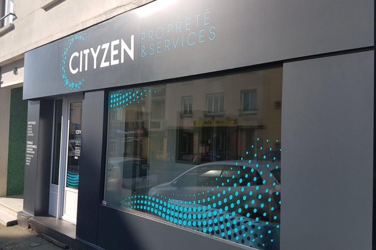 Façade Cityzen Propreté Et Services Entreprise De Nettoyage Rennes