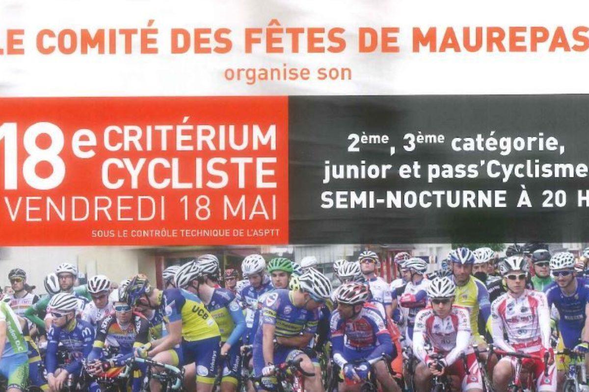 Course velo criterium cycliste maurepas rennes 2018