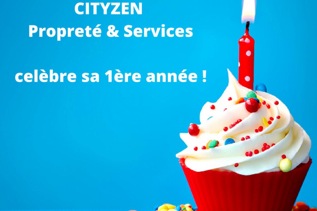 Notre entreprise de nettoyage CITYZEN Propreté & Services célèbre ses 1 an